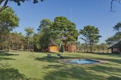 Casa con la sala de conferencias en Kudus Rus Game Lodge Foto de archivo libre de regalías