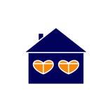 Casa con las ventanas calurosas Fotografía de archivo libre de regalías