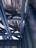 Casa con marco de acero Fotografía de archivo