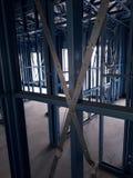 Casa con marco de acero Fotografía de archivo libre de regalías