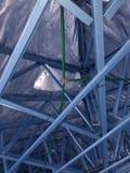 Casa con marco de acero Fotos de archivo