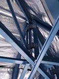 Casa con marco de acero Imagen de archivo