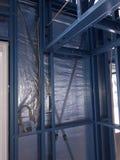 Casa con marco de acero Imagen de archivo libre de regalías