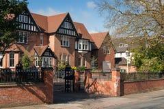Casa con mattoni a vista fotografie stock libere da diritti