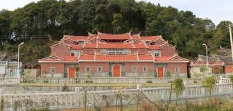 Casa con mattoni a vista del sud di rosso di fujian Immagine Stock