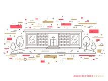 Casa con mattoni a vista moderna del progettista Immagini Stock Libere da Diritti