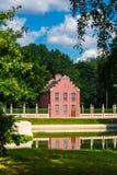 Casa con mattoni a vista olandese nel parco di Kuskovo fotografia stock libera da diritti