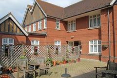 Casa con mattoni a vista rossa Fotografia Stock