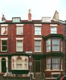 Casa con mattoni a vista rossa Immagine Stock Libera da Diritti