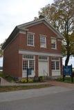 Casa con mattoni a vista rossa in Nauvoo Illinois Fotografia Stock Libera da Diritti