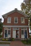 Casa con mattoni a vista rossa in Nauvoo Illinois Immagine Stock Libera da Diritti