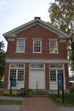 Casa con mattoni a vista rossa in Nauvoo Illinois Fotografia Stock