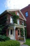 Casa con mattoni a vista storica Immagine Stock Libera da Diritti