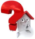 Casa con una pregunta Imagen de archivo libre de regalías