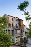 Casa concreta molto vecchia a Ahmedabad Immagine Stock Libera da Diritti