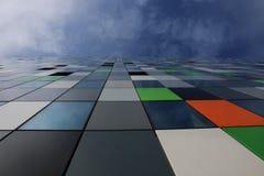 Casa confetti colourful budynek na uithof i niebieskie niebo plus niektóre, chmurniejemy zdjęcie royalty free