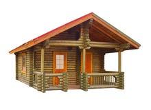 Casa construída dos registros fotografia de stock