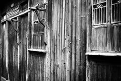 Casa construida de la madera Imágenes de archivo libres de regalías