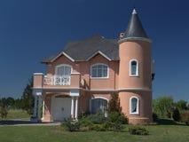 Casa cor-de-rosa 2 Imagens de Stock Royalty Free