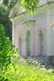 Casa cor-de-rosa fotografia de stock royalty free