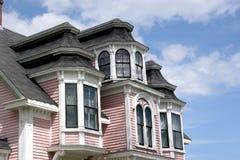 Casa cor-de-rosa do detalhe Imagens de Stock Royalty Free