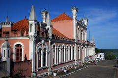 Casa cor-de-rosa velha Imagem de Stock