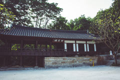 Casa coreana no parque da cidade de Guangzhou, China fotografia de stock