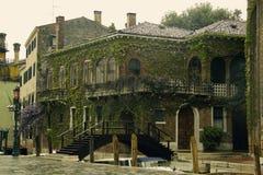 Casa cubierta en hiedra Imágenes de archivo libres de regalías
