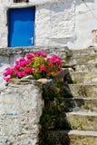 Casa cycladic abandonada Imagen de archivo libre de regalías