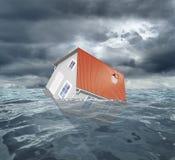 Casa d'affondamento Fotografie Stock Libere da Diritti