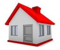 casa 3D aislada Imagen de archivo