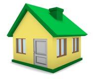 casa 3D aislada Fotos de archivo