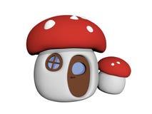 Casa 3D do cogumelo do cogumelo venenoso ilustração royalty free