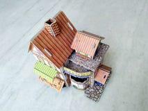 casa 3d moderna su fondo bianco fotografia stock libera da diritti