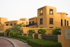 Casa da areia da vila, Dubai, abril 2017 fotografia de stock royalty free