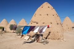 Casa da argila no deserto Fotografia de Stock Royalty Free