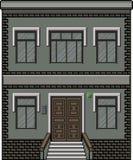 Casa da arte do pixel para o fundo Fotografia de Stock Royalty Free