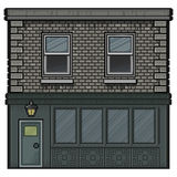 Casa da arte do pixel para o fundo Foto de Stock Royalty Free