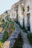 Casa da caverna Matera Basilicata Apulia ou Puglia Italy foto de stock