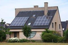Casa da célula solar Imagem de Stock Royalty Free