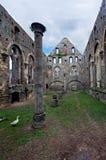 Casa da coluna das ruínas, abadia do la Ville de Villers, Bélgica fotos de stock
