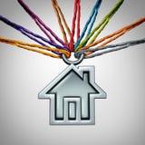 Casa da comunidade ilustração stock