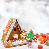Casa da cookie do Natal Imagem de Stock Royalty Free