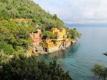 Casa da costa de Portofino Fotografia de Stock
