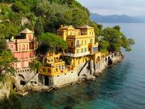 Casa da costa de Portofino Imagens de Stock Royalty Free