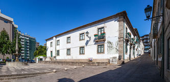 Casa da Cultura (Culture House) of Vila Nova de Famalicao. Manuel Sottomaior Square on the left. Royalty Free Stock Image