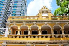 Casa da cultura do chá de Macau, Macau, China fotos de stock royalty free