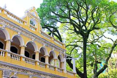 Casa da cultura do chá de Macau, Macau, China fotos de stock