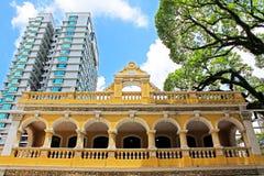 Casa da cultura do chá de Macau, Macau, China foto de stock
