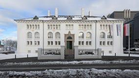 A casa da cultura em Reykjavik fotografia de stock royalty free